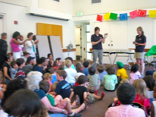 full house as oakland library hosts oakland zoo