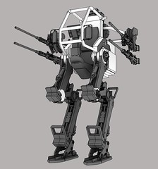 machine, robot, gun turret, mecha,