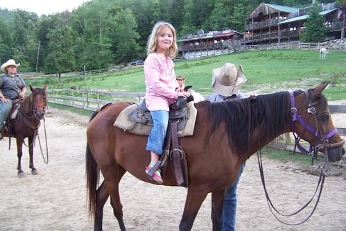 C7 on horse