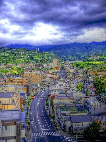 morning summer sky japan sunrise july freehand odawara kanagawa hdr honcho 2012 3x photomatix