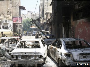 Scene showing the impact of fighting in Damascus, Syria. US-backed rebels are attacking several cities and border areas throughout the country. by Pan-African News Wire File Photos
