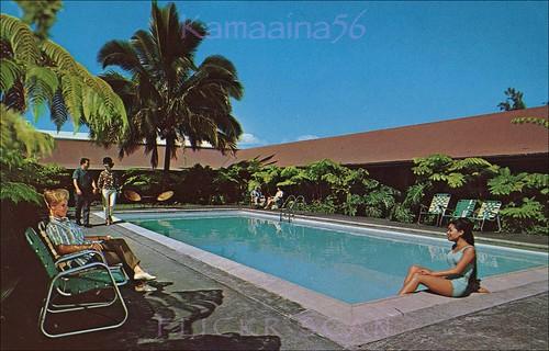 hawaii postcard 1950s bigisland hilo