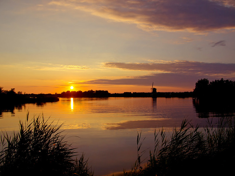 Sunset at het Twiske