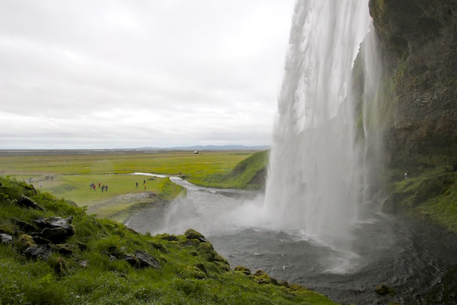 Seljalandsfoss behind the falls