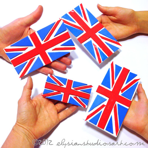 Handmade Union Jack Stamps