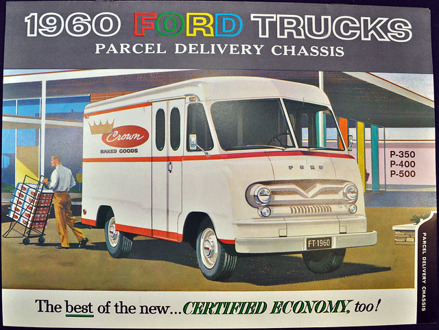 1960 Ford Trucks Brochure - parcel delivery chassis
