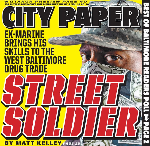 "City Paper Cover ""Street Soldier"" feature story"