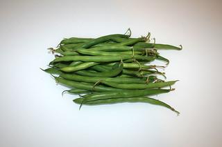 01 - Zutat grüne Bohnen / Ingredient green beans