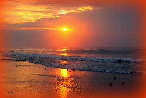 ocean morning sea beach nature sunrise newjersey wildwood flickraward