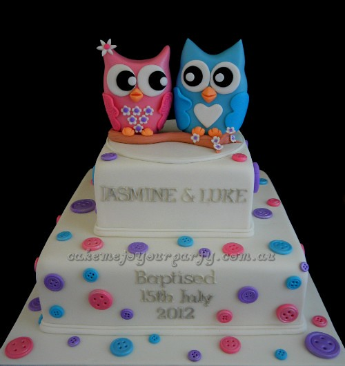 Twin Owl Cake  Flickr - Photo Sharing!