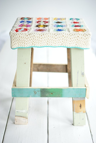 wood & wool stool jessie