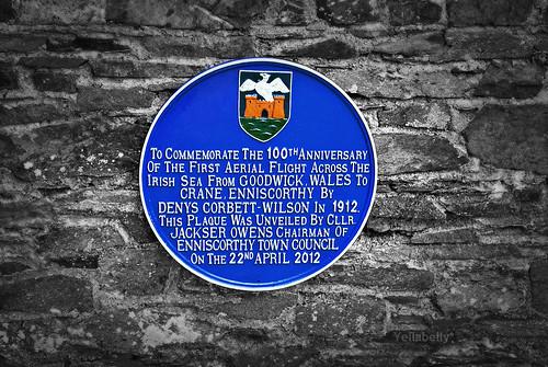 ireland irish wall wales plaque memorial aviation pembrokeshire enniscorthy commemoration goodwick countywexford angloirish enniscorthycastle aviationpioneer wexfordcountymuseum denyscorbettwilson monageer
