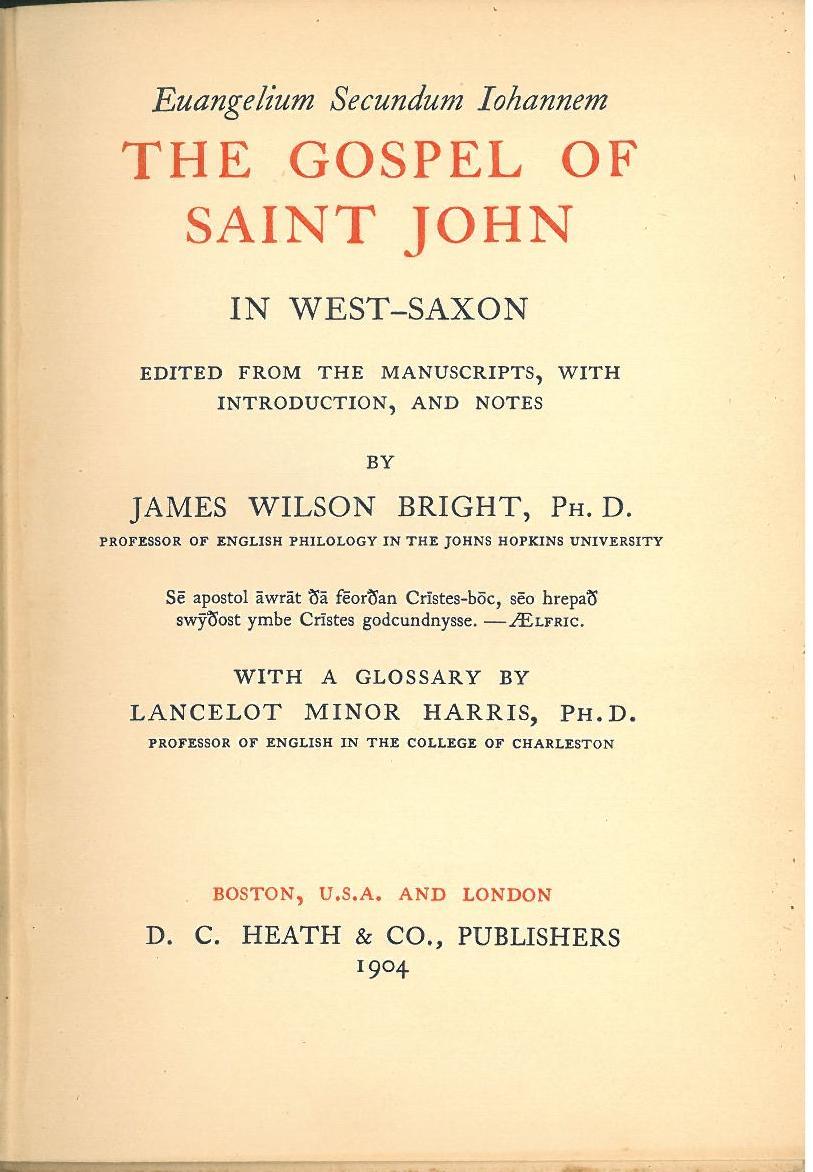 west saxon gospels