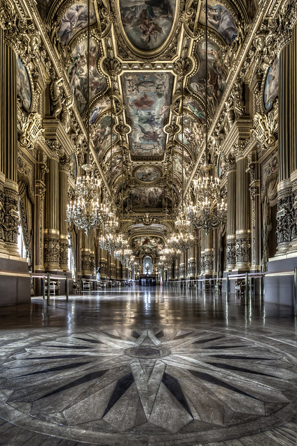 The Grand Foyer Palais Garnier : Le palais garnier paris opera house grand foyer