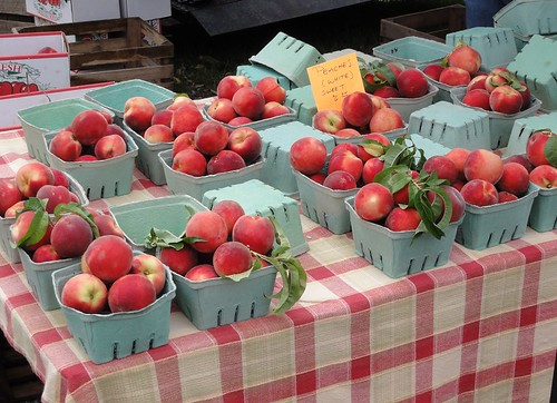 Peaches at the Kent Farmers' Market