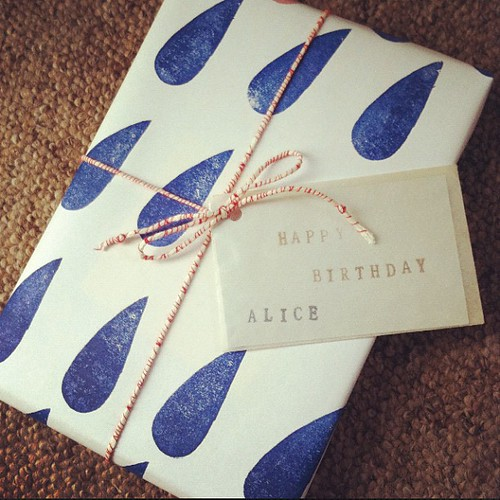 Gift wrapped for wonderful Alice :)