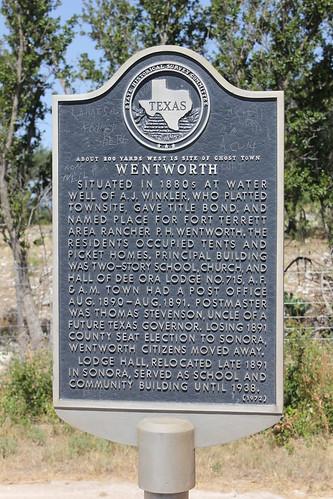 sonora texas historic wentworth texashistoricalmarker suttoncounty