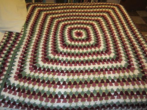 Crochet Granny Square Blanket 1