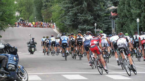 2012 USA Pro Challenge Aspen - Stage 4 - Heading up Aspen Street