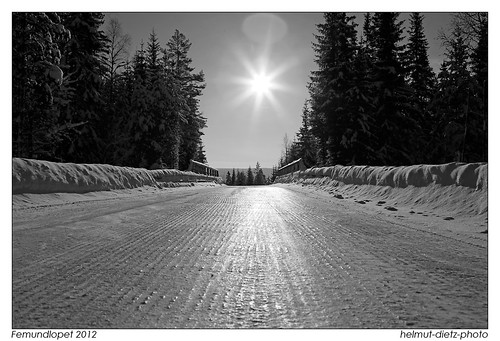 Femundlopet roads between the checkpoints, helmut-dietz-photo-2012