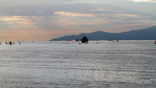 Vancouver Harbour at sunset, August 2012