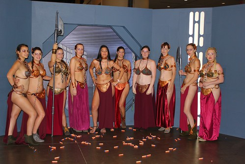Slave Leias in NERF shooting - Star Wars Celebration VI