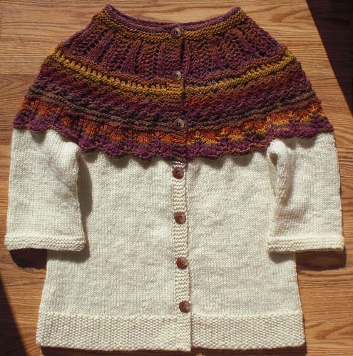 Caffè Latte Cardigan by Beatrixknits