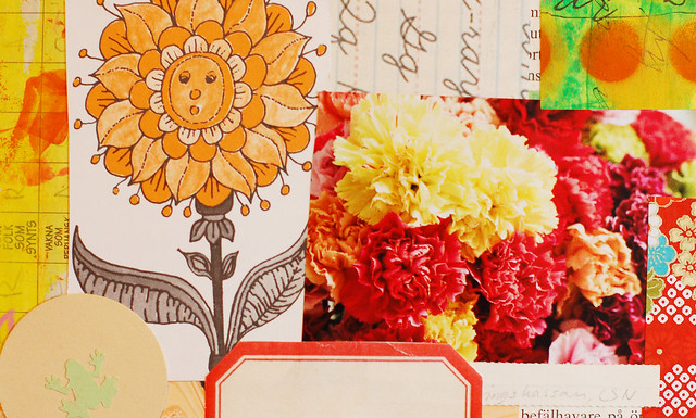 Art Journal Detail: Flower suprise