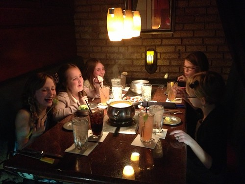 Having fun at The Melting Pot