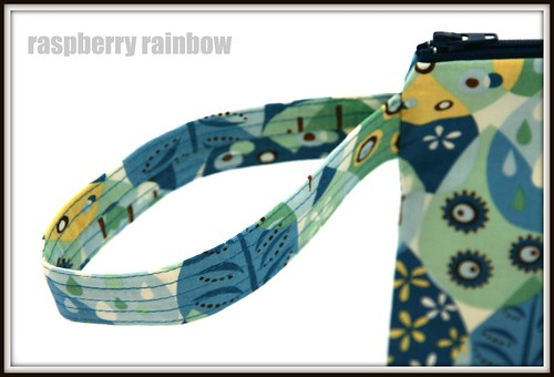 Tweet Tweet fabric zippered pouch.