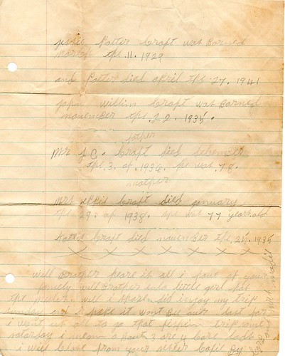 Letter from Cofie Craft 1949