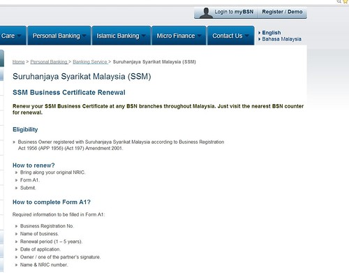 BSN SSM Business Cert Renewal