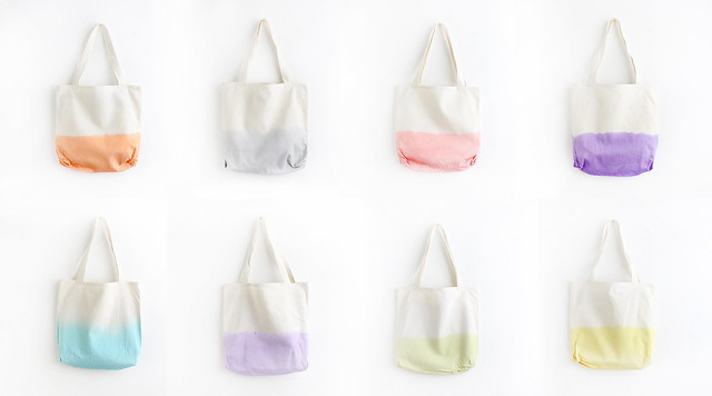 dyed totes. spring.