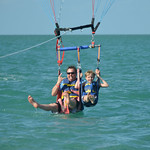 Dave and Jack Parasailing