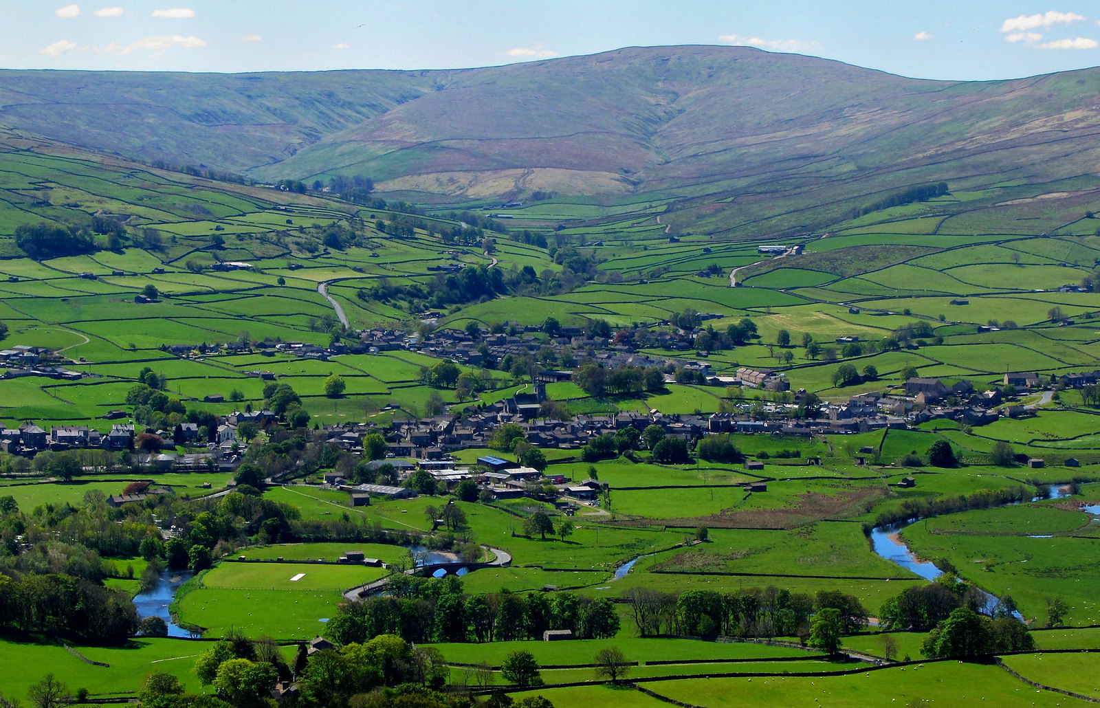 The market town of Hawes at the head of Wensleydale. Credit Peer Lawther