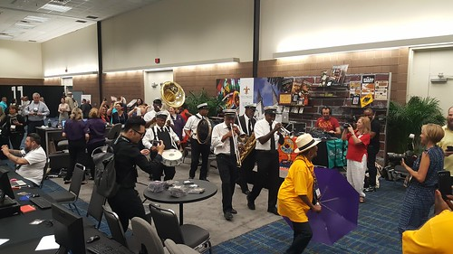 Joe Lastie Brass Band second line at IPW 2016