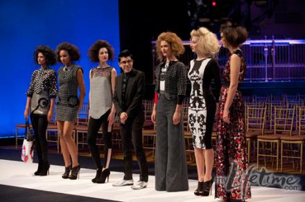 Mondo with his models on the runway