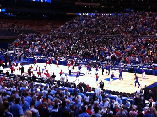 Kansas getting ready to enjoy the home crowd.