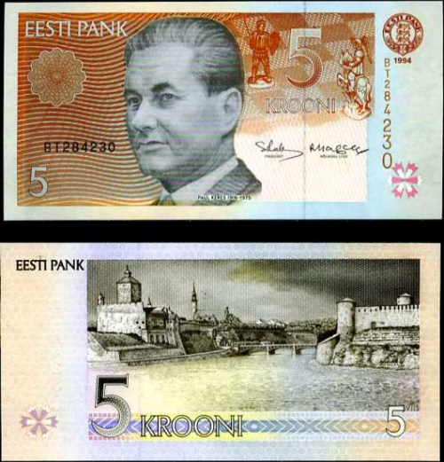 5 Krooni Estónsko 1994, Pick 76