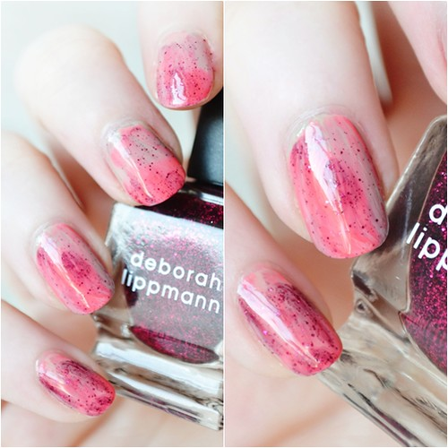 Raspberry ripple ice cream nails