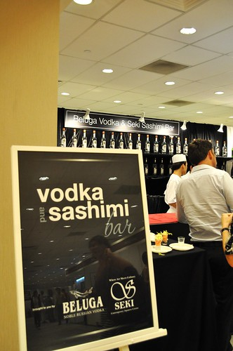 vodka sashimi bar