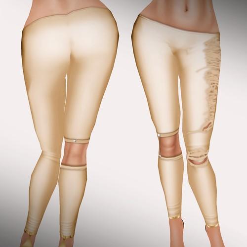 A&A Fashion Ergi Leggings gold