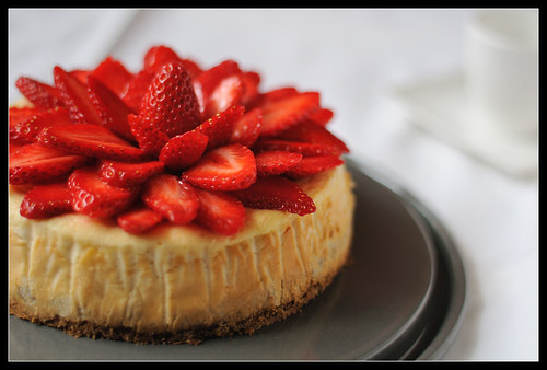 Strawberries Vanilla Cheesecake