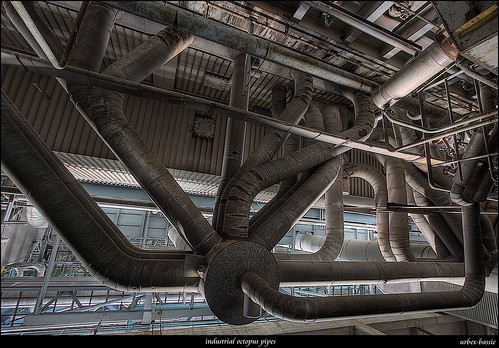 industrial octopus pipes by urbex-bassie