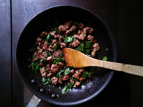Sausage and Ramp Pasta Sauce