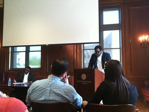 Historian Sherwin Bryant giving a talk about his work on Afro-Latins in Ecuador