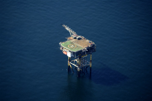 Gas platform, Irish Sea