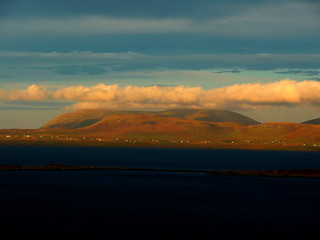 Uig seen from the Waternish peninsula,Scotland.