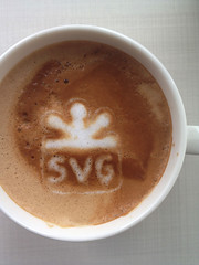 Today's latte, SVG logo.