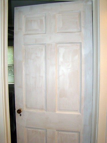 primer on the guest bed room door